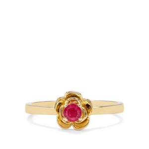 0.20ct Burmese Ruby 9K Gold Ring