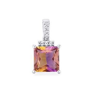 Anahi Ametrine Pendant with White Topaz in Sterling Silver 4.39cts