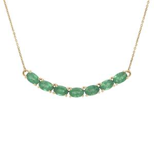 Zambian Emerald Necklace in 9K Gold 3.55cts