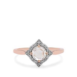 1.11ct Rose Cut Ratanakiri Zircon 9K Rose Gold Ring