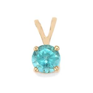 Madagascan Blue Apatite Pendant in 10K Gold 0.50ct