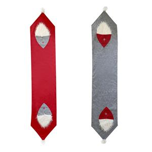 Decorative Felt Nordic Gonk Christmas Table Runner in Choice of Colour