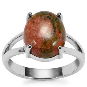 Unakite Ring in Sterling Silver 4.74cts