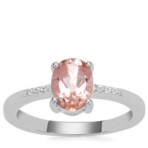 Galileia Topaz Ring with White Zircon in Sterling Silver 1.47cts