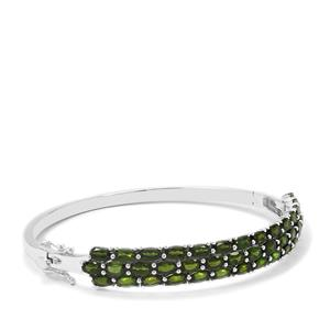 9.88ct Chrome Diopside Sterling Silver Oval Bangle