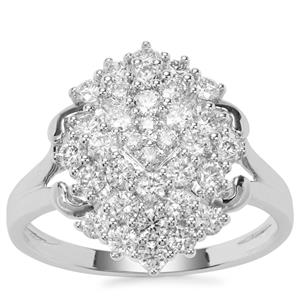Argyle Diamond Ring in 9K White Gold 1cts