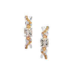 Serenite & Diamantina Citrine Sterling Silver Earrings ATGW 2.52cts