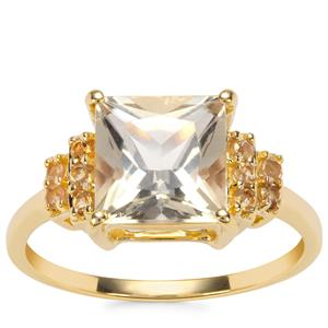 Serenite Ring with Diamantina Citrine in 9K Gold 2.40cts