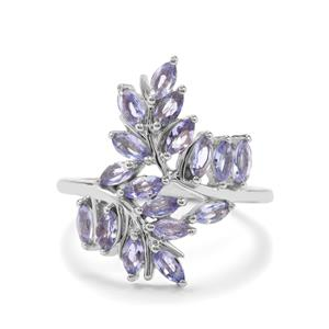 1.49ct Tanzanite Sterling Silver Ring