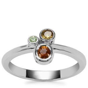 Ambanja Demantoid Garnet Ring in Sterling Silver 0.41ct