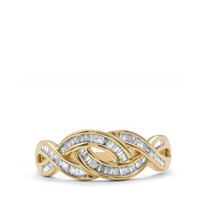 Diamond Ring in 10K Gold 0.34ct
