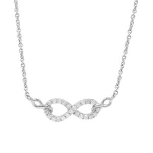 Diamond Necklace in Sterling Silver 0.16ct