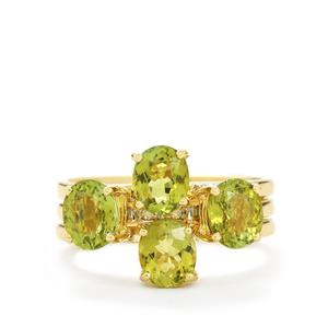 Cuprian Tourmaline Set of 3 Stacker Rings with Diamond in 18k Gold 2.52cts