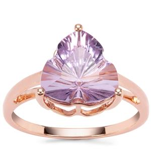 Lehrer Infinity Cut Rose De France Amethyst Ring in 9K Rose Gold 3.20cts