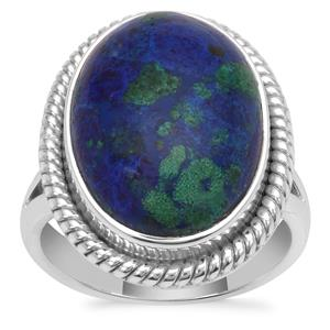 Azure Malachite Ring in Sterling Silver 11.41cts