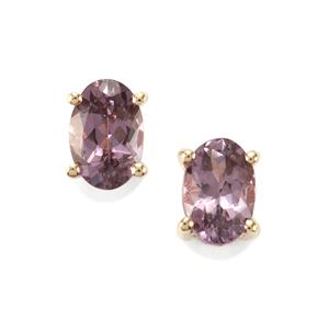 Mahenge Purple Spinel Earrings in 10K Gold 1ct