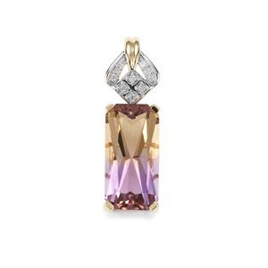 Anahi Ametrine Pendant with Diamond in 9K Gold 3.59cts