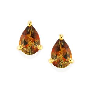 0.79ct Gouveia Andalusite 10K Gold Earrings