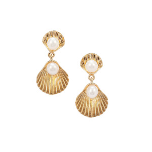 Kaori Cultured Pearl Midas Earrings (4.50mm)