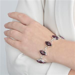 Eudialyte Bracelet in Sterling Silver 52cts