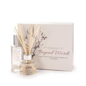 Beyond Words Collection - Rose Quartz Cherry Blossom Reed Diffuser and Room Spray Gift Set ATGW 60cts