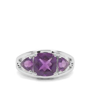 2.81ct Amethyst Sterling Silver Ring