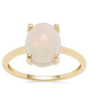 Ethiopian Opal Ring in 9K Gold 2.29cts