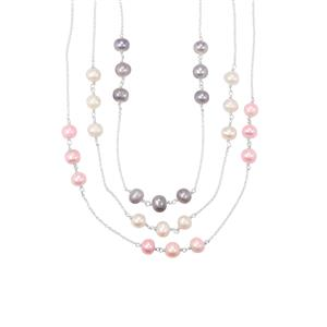 Kaori Cultured Pearl Set of 3 Necklace in Sterling Silver