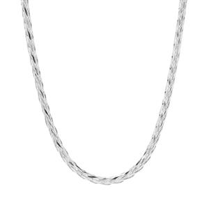 "24""Sterling Silver Tempo Round Diamond Cut Foxtail Chain 6g"
