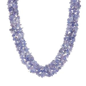 Tanzanite  Necklace in Sterling Silver 331.05cts