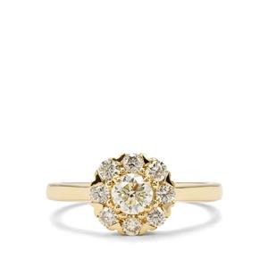 1ct Yellow Diamond 18K Gold Tomas Rae Ring