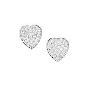 Diamond Earrings in Sterling Silver 0.25ct