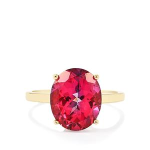 5.56ct Mystic Pink Topaz 10K Gold Ring