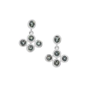 2.50ct Natural Umba Sapphire Sterling Silver Earrings