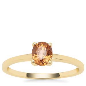 Cognac Zircon Ring in 9K Gold 1.05cts