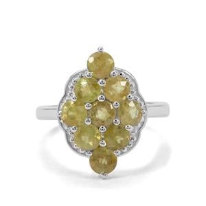 Ambilobe Sphene Ring in Sterling Silver 2.91cts