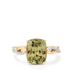 Csarite® Ring with Diamond in 18k Gold 4.70cts