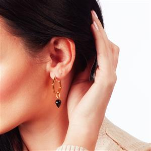 Molte Hex Hoop Earrings in Gold Plated Silver