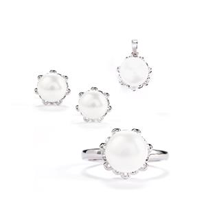 Kaori Freshwater Cultured Pearl Sterling Silver Set of 3