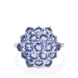 3.37ct Tanzanite Sterling Silver Ring