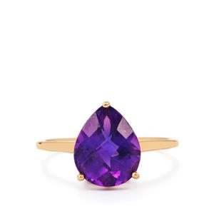 Zambian Amethyst Ring in 9K Rose Gold 3.05cts