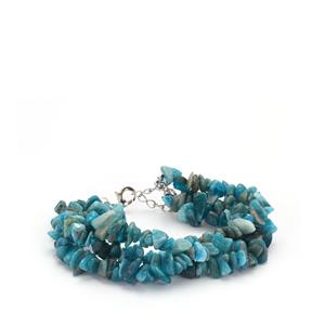 Neon Apatite Bead Bracelet in Sterling Silver 195.60cts