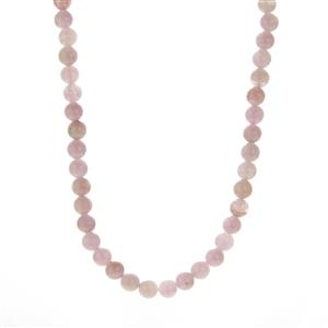 Kunzite Slider Necklace in Rose Gold Plated Sterling Silver 137cts