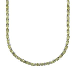 20.30ct Red Dragon Peridot Sterling Silver Necklace
