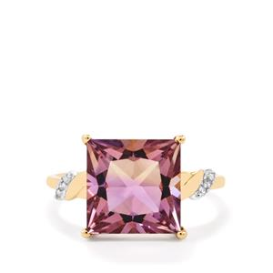 Anahi Ametrine Ring with Diamond in 9K Gold 4.62cts
