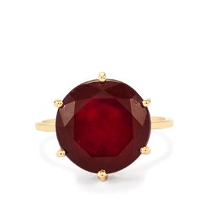 Malagasy Ruby Ring in 9K Gold 12.48cts (F)