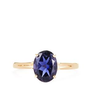 Bengal Iolite Ring in 10K Gold 1.49cts
