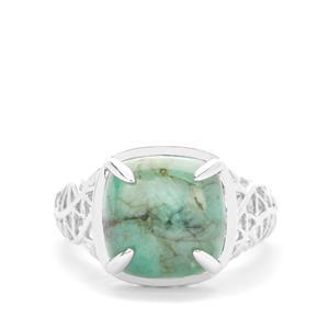 7.18ct Minas Velha Emerald Sterling Silver Ring