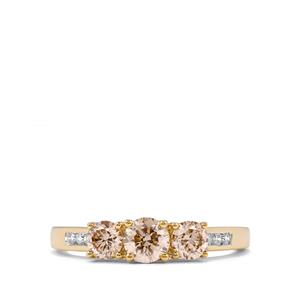 Argyle Diamond Ring in 18K Gold 1ct
