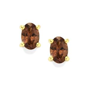 Bekily Color Change Garnet Earrings in 10k Gold 1.08cts
